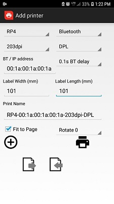 RL / RP Is there a Honeywell App to send a test print from